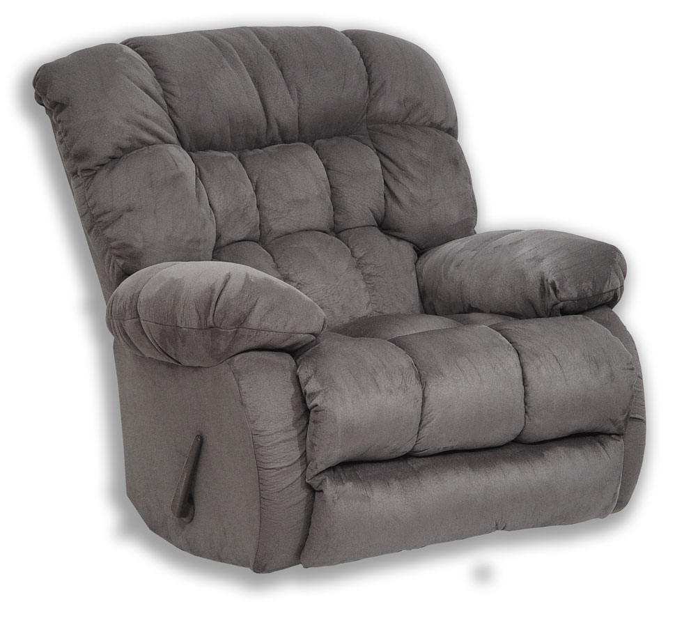 CatNapper Teddy Bear Chaise Rocker Recliner - Graphite 4517-2-Graphite