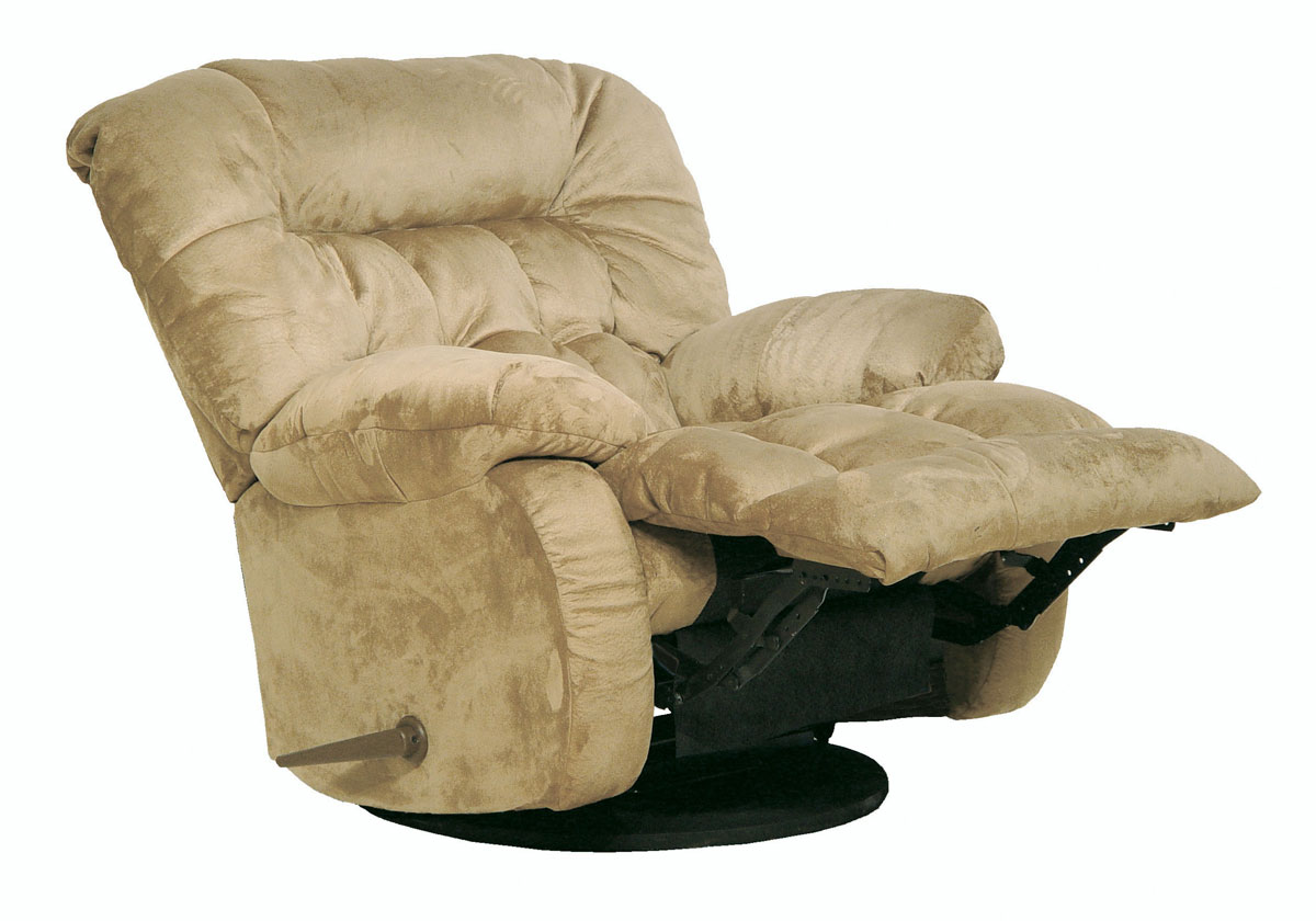 CatNapper Teddy Bear Chaise Rocker Recliner - Hazelnut