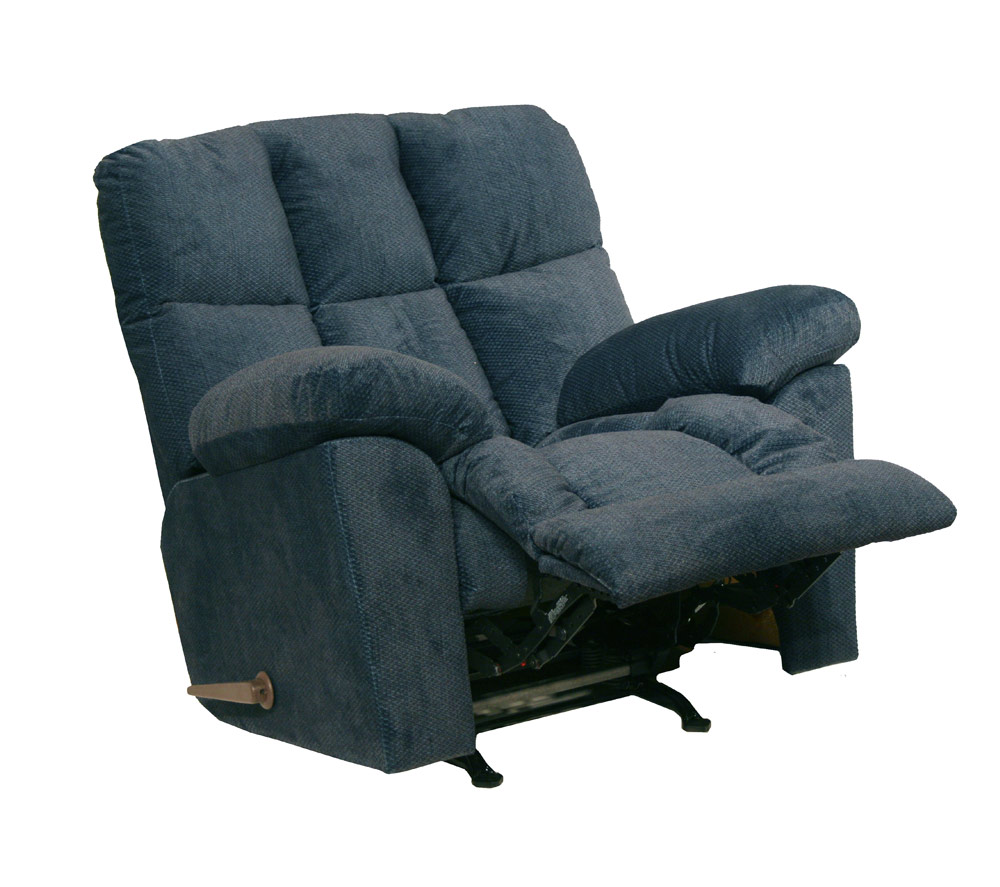 Catnapper pegasus chaise rocker recliner midnight ocean for Catnapper recliner chaise