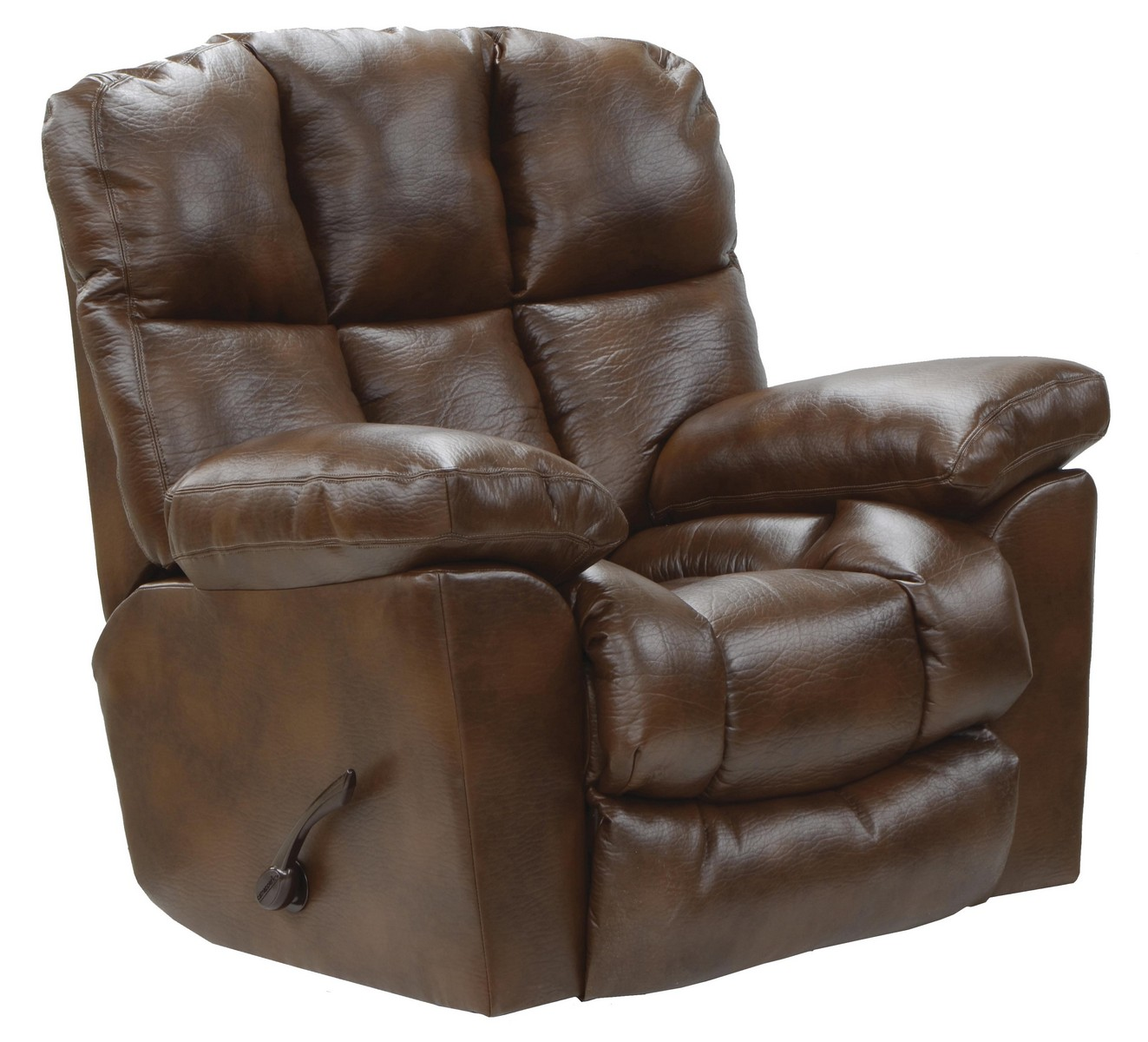 Catnapper griffey bonded leather chaise rocker recliner for Chaise x rocker