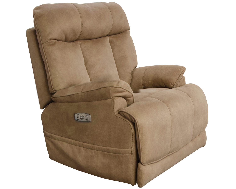 CatNapper Amos Power Recliner Chair - Camel