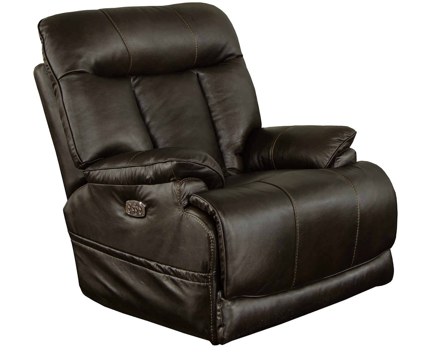 CatNapper Naples Leather Power Recliner Chair - Chocolate
