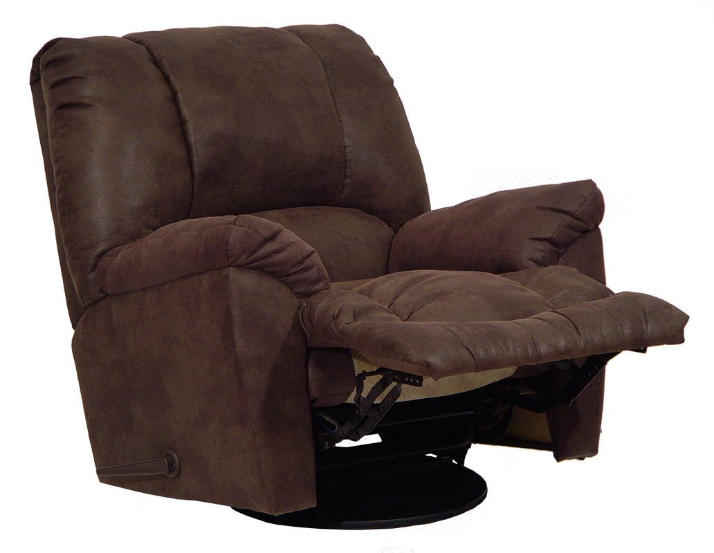 CatNapper Goliath Chaise Swivel Recliner - Chocolate