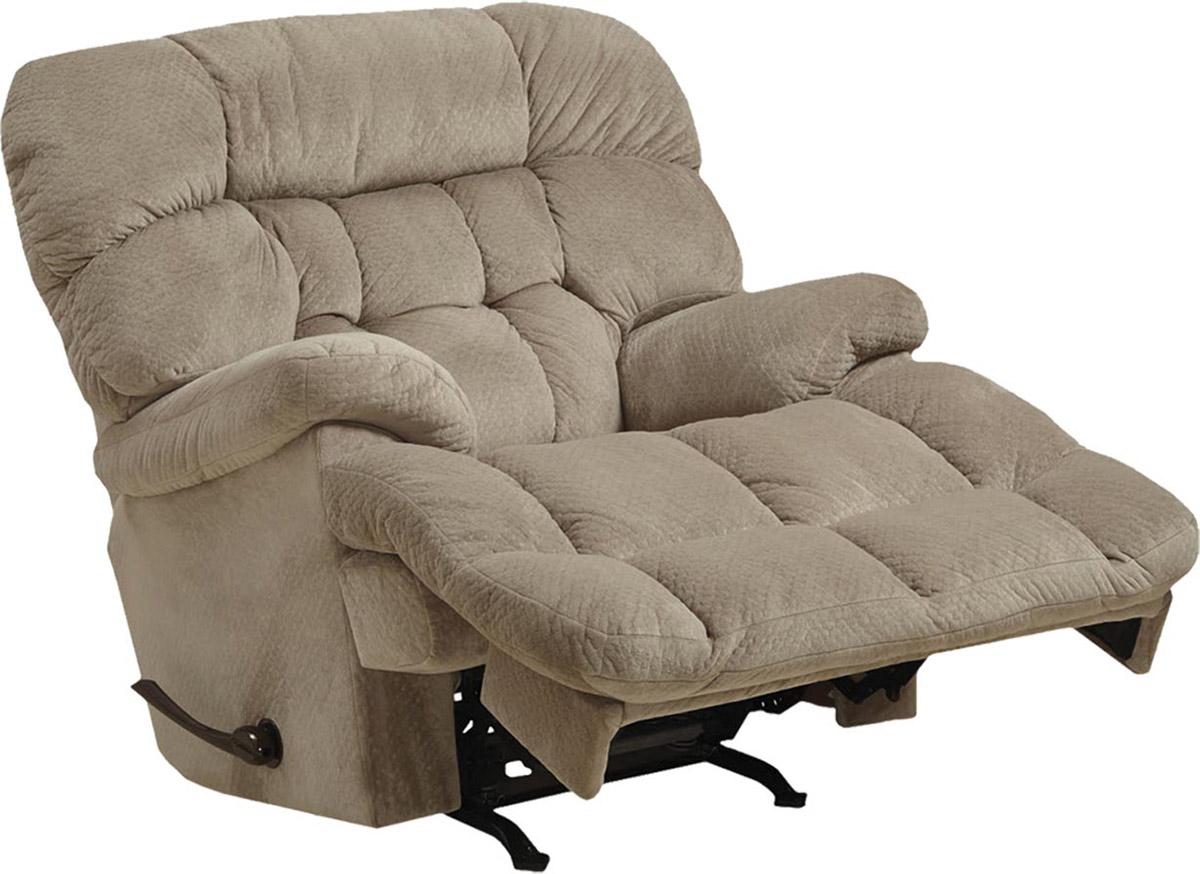 CatNapper Colson Chaise Rocker Recliner Chair - Driftwood