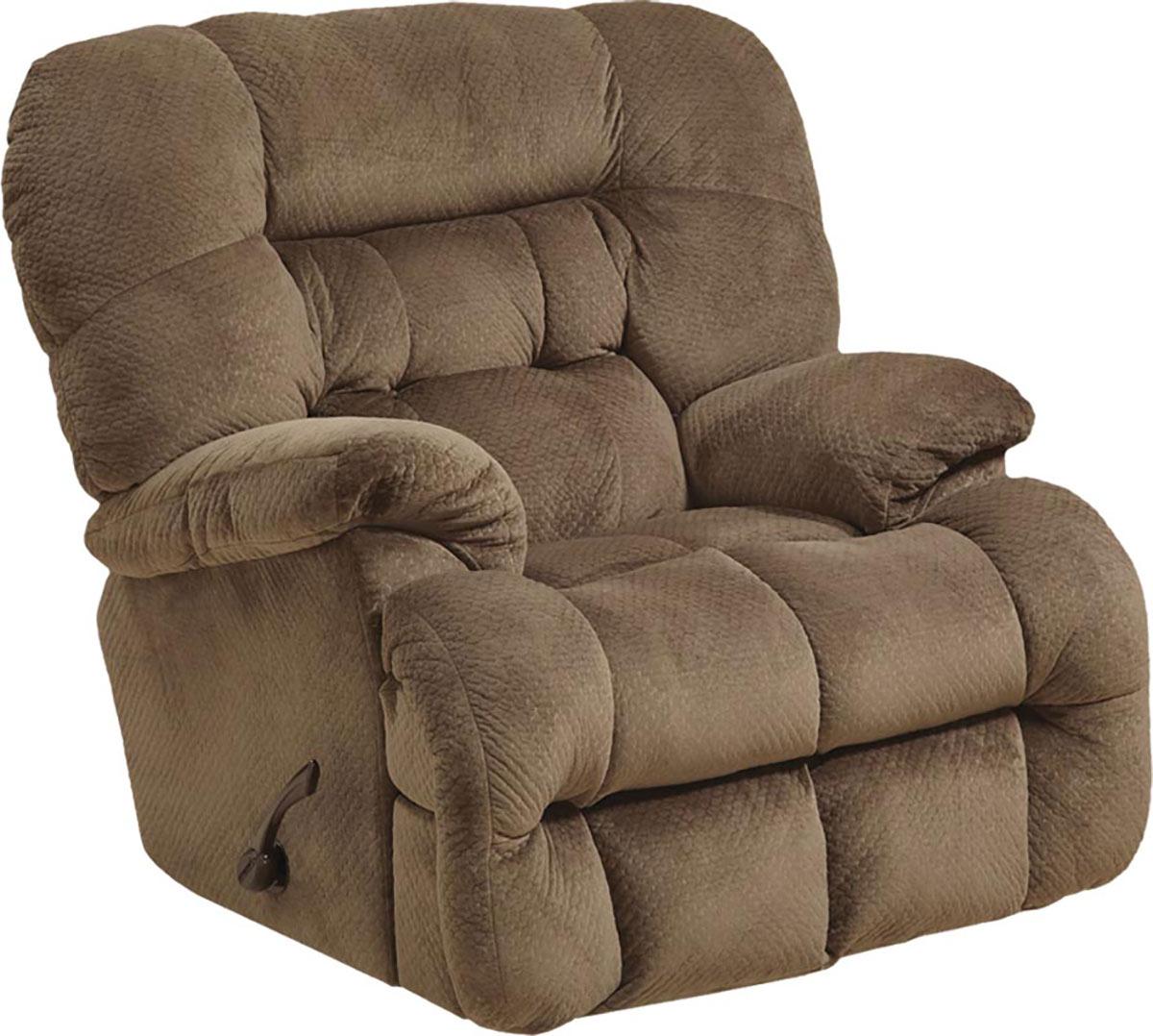 CatNapper Colson Chaise Rocker Recliner Chair - Mocha