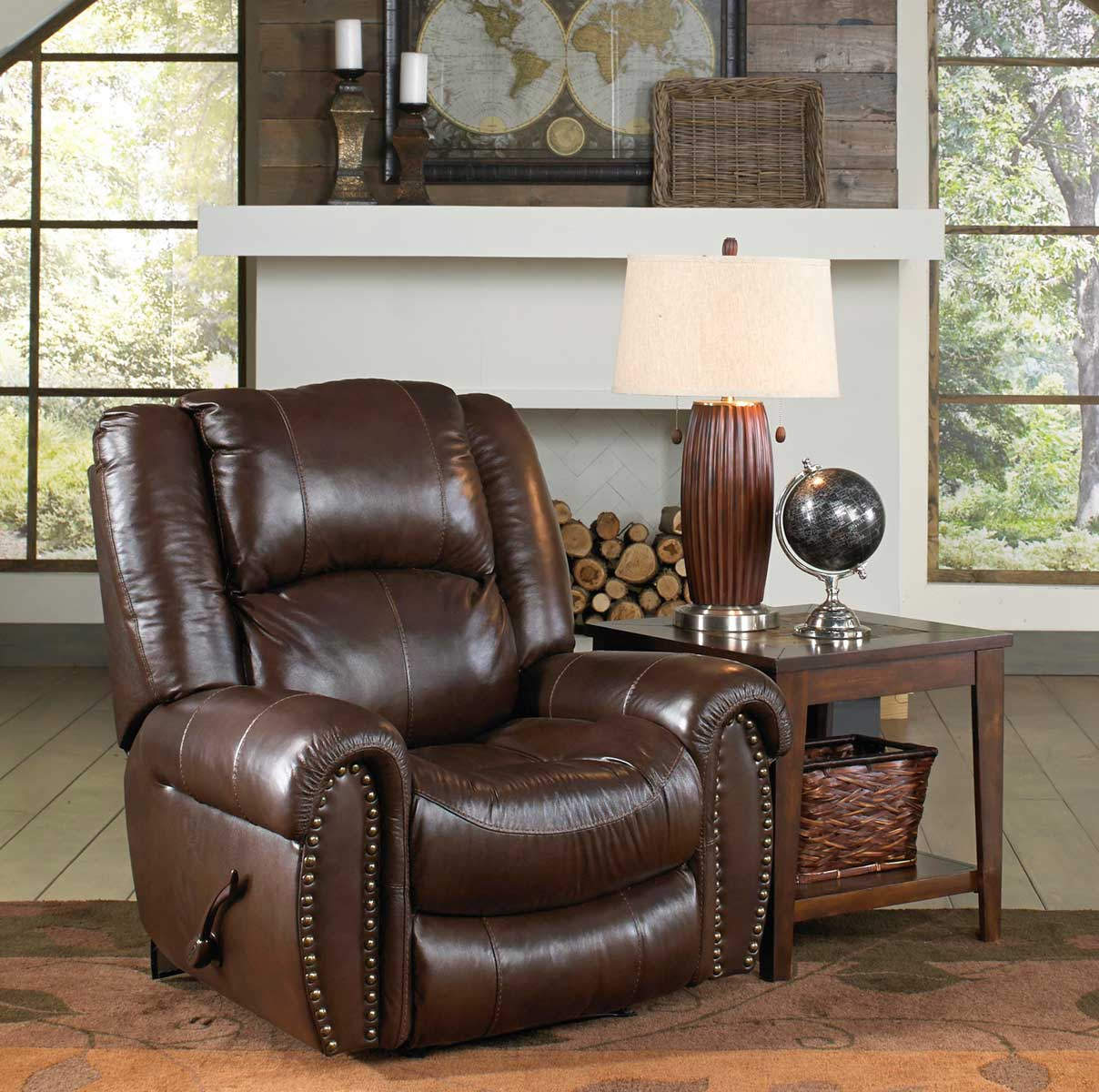 Catnapper Jordan Lay Flat Reclining Sofa Set Tobacco Cn