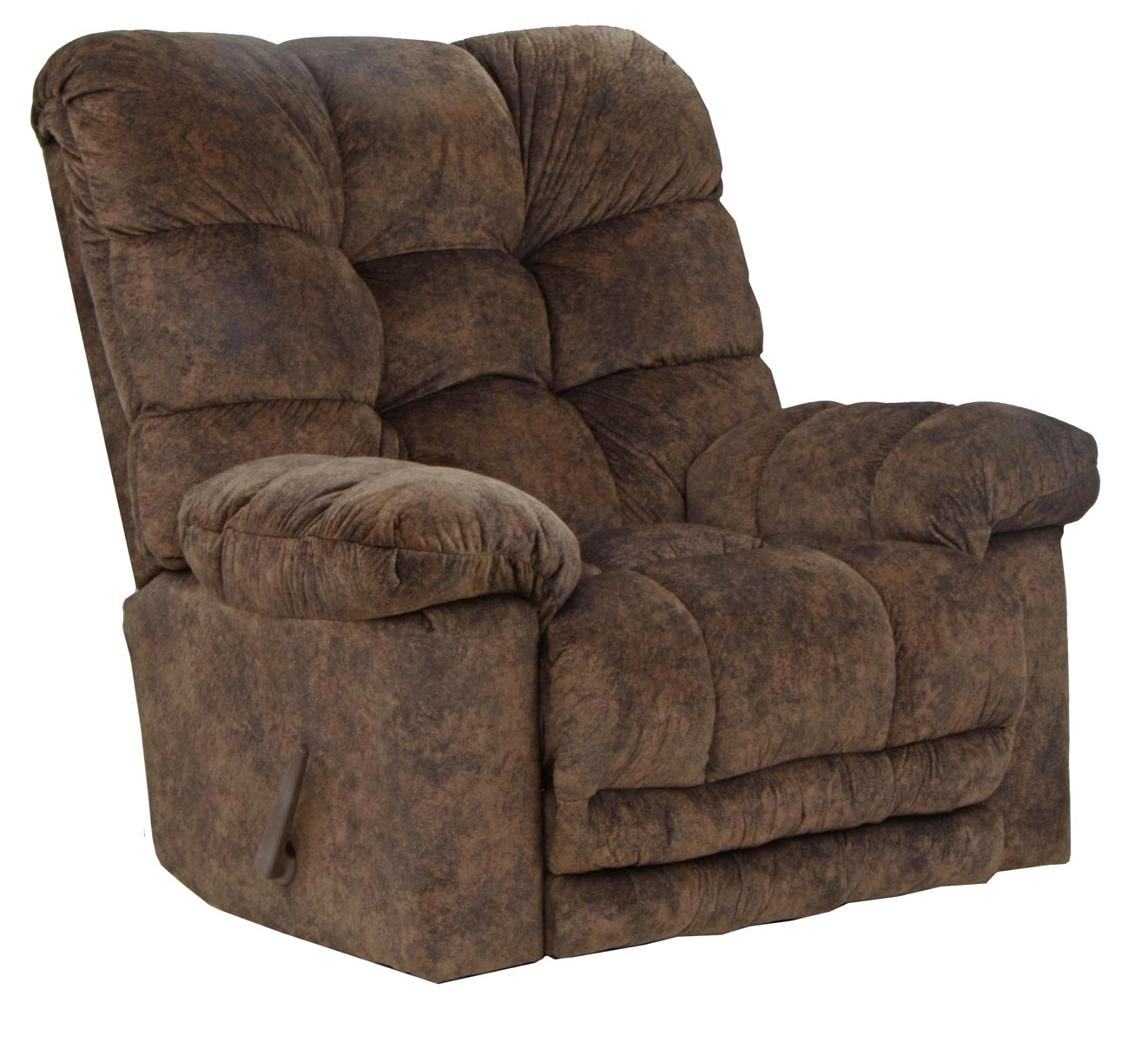 CatNapper Bronson Chaise Rocker Recliner with X-Tra Comfort Footrest - Chestnut 4690-2-Chestnut