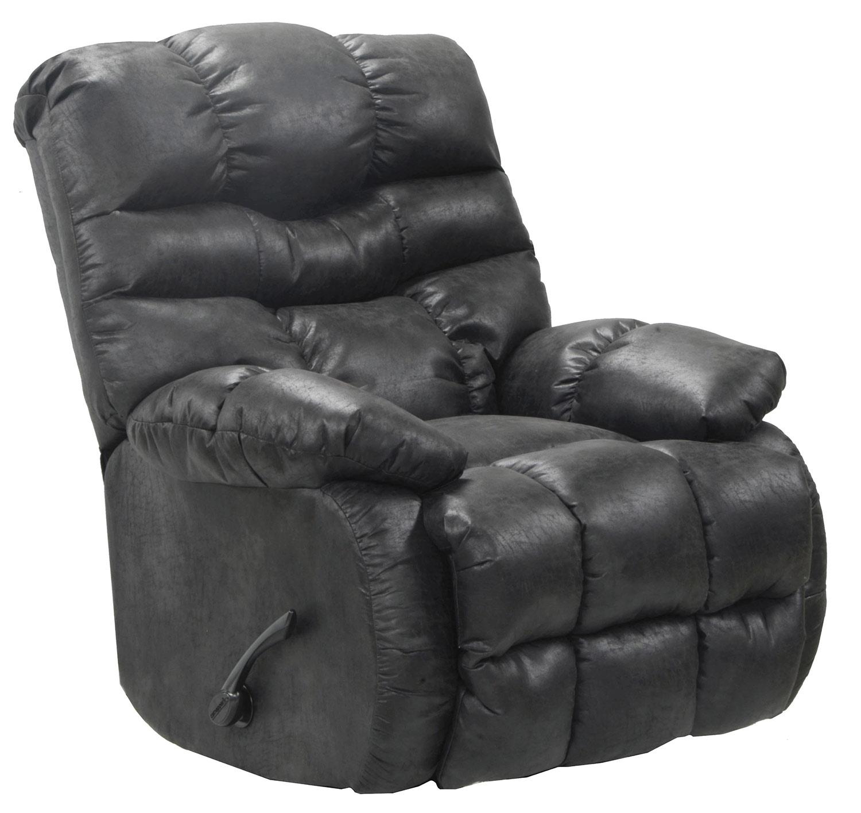 CatNapper Berman Rocker Recliner Chair - Steel