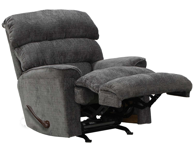 CatNapper Pearson Rocker Recliner Chair - Charcoal