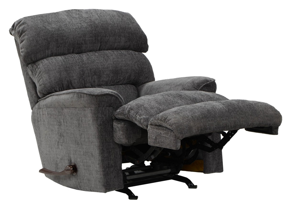 Catnapper pearson chaise rocker recliner charcoal cn for Chaise x rocker