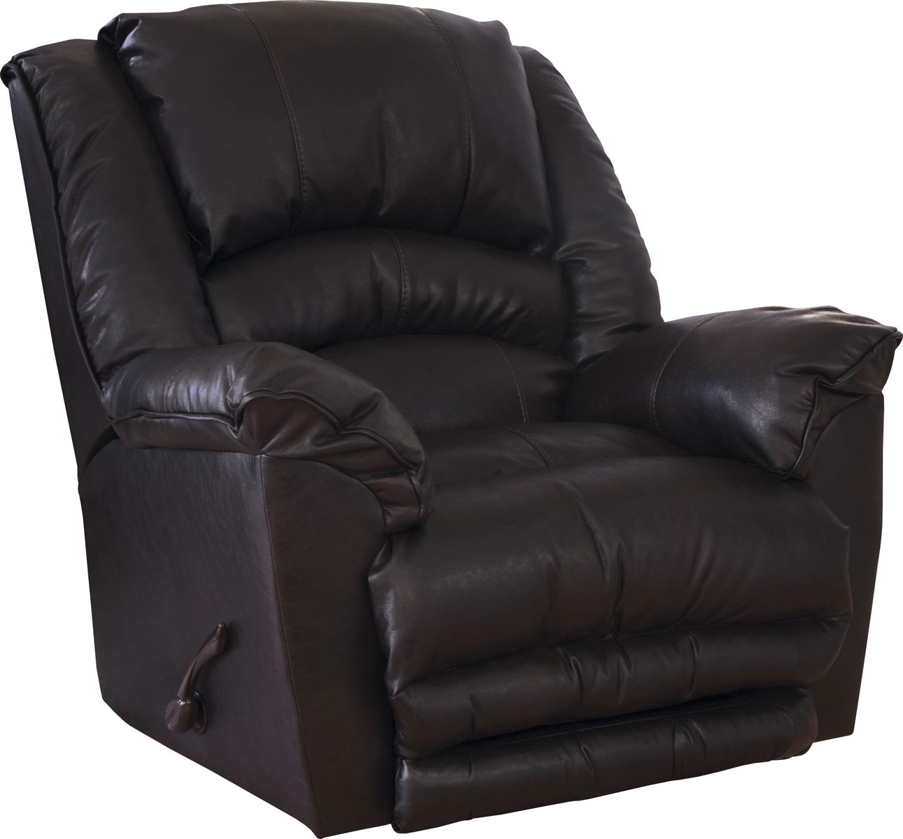 CatNapper Filmore Chaise Rocker Recliner - Oversized X-tra Comfort Footrest - Godiva