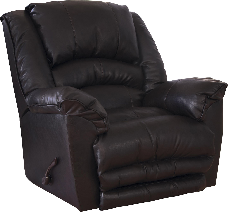 CatNapper Filmore Bonded Leather Recliner Chair - Godiva