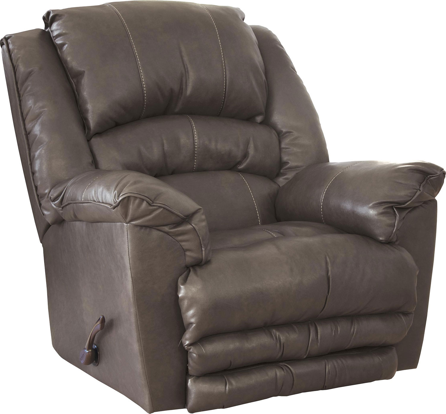 CatNapper Filmore Bonded Leather Recliner Chair - Smoke