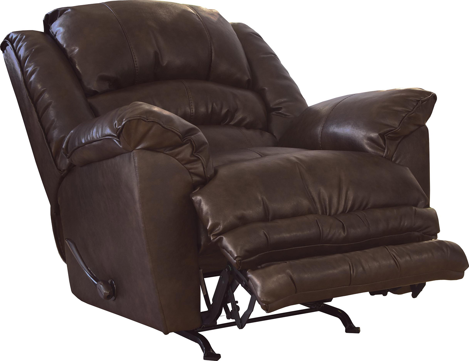 CatNapper Filmore Bonded Leather Recliner Chair - Timber