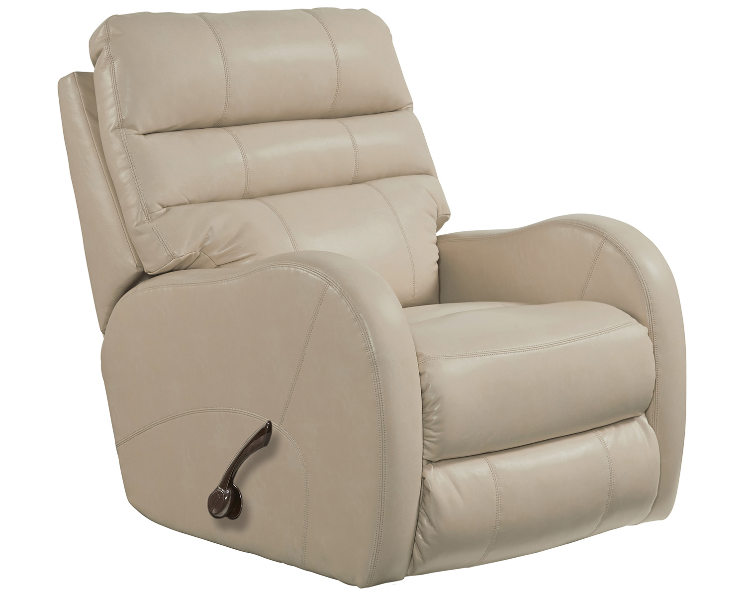 CatNapper Searcy Rocker Recliner Chair - Parchment
