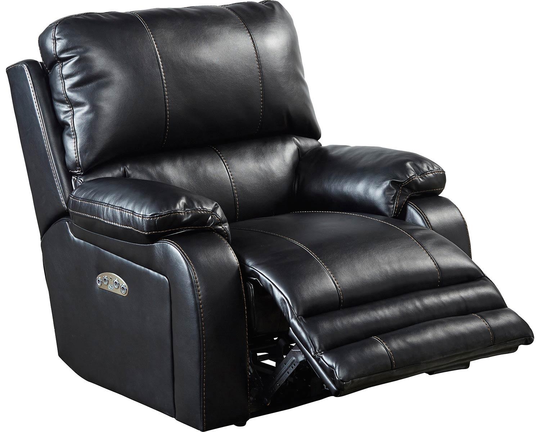 CatNapper Thornton Power Headrest Power Recliner Chair - Black