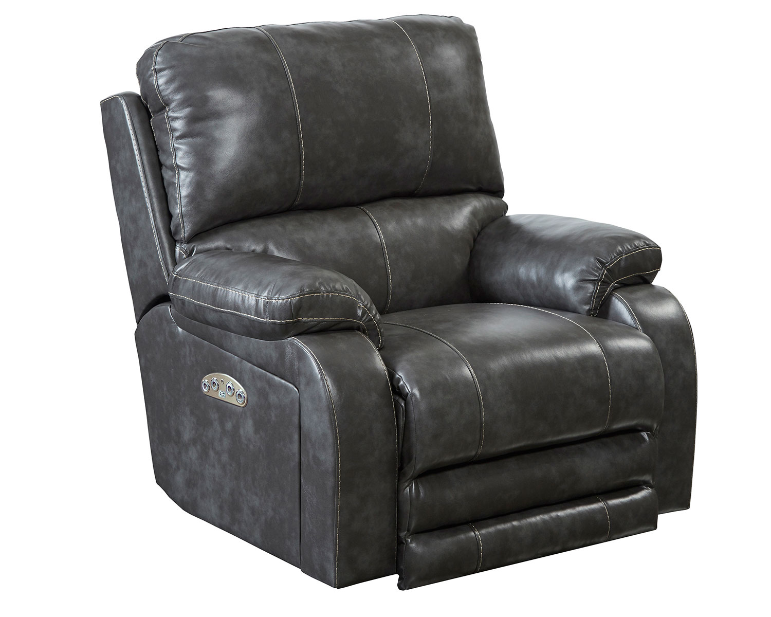 CatNapper Thornton Power Headrest Power Recliner Chair - Steel