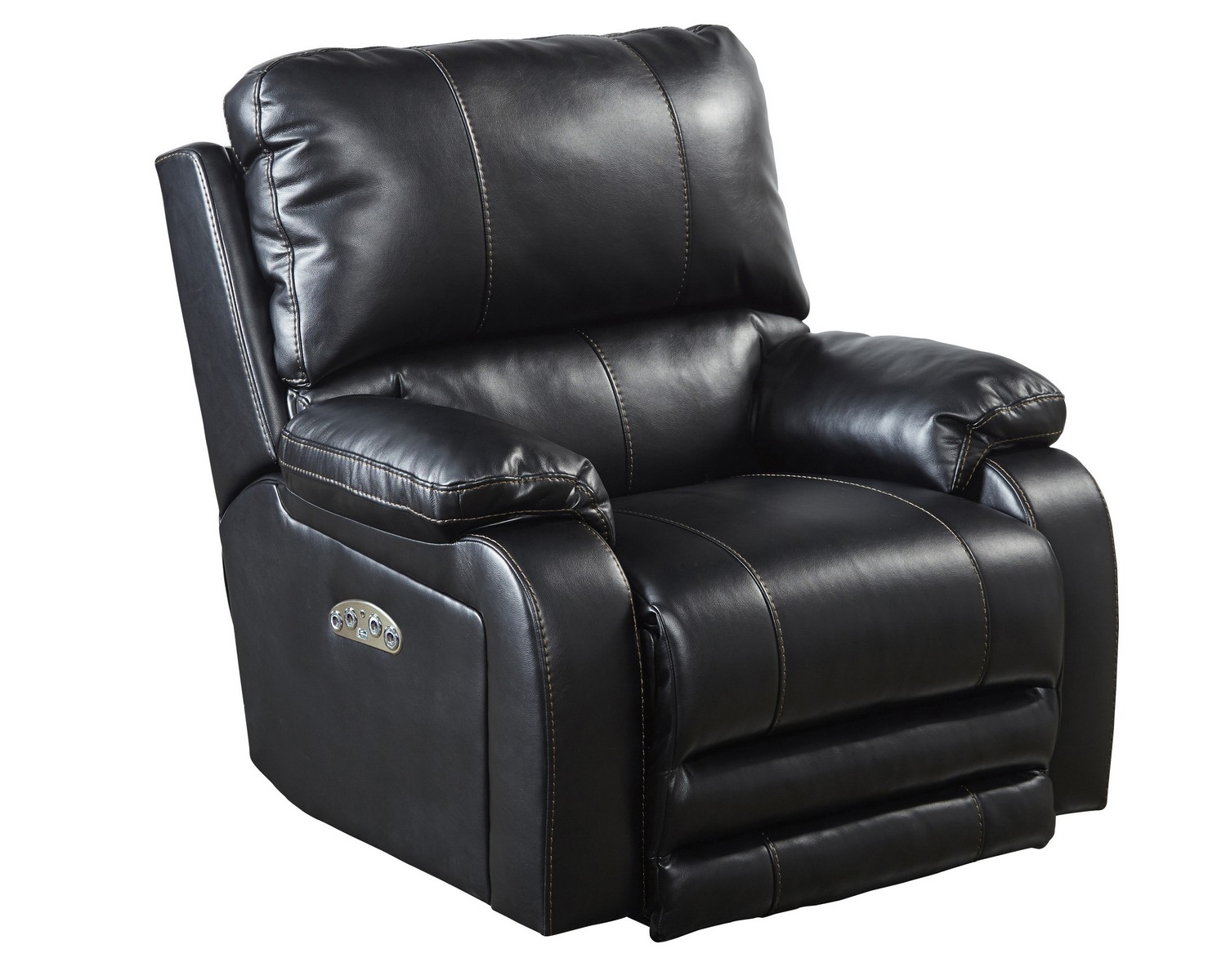 CatNapper Thornton Power Headrest Power Lay Flat Recliner - Black