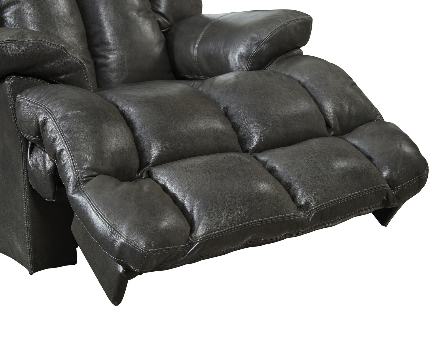CatNapper Victor Top Grain Leather Chaise Rocker Recliner - Steel  sc 1 st  Homelement.com : chaise rocker - Sectionals, Sofas & Couches