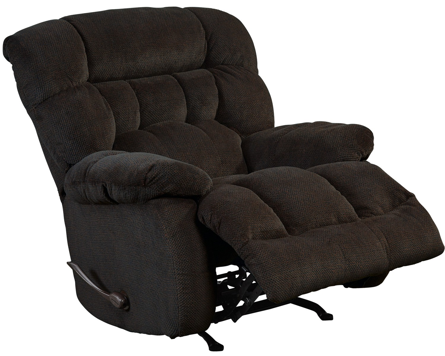 CatNapper Daly Chaise Rocker Recliner - Chocolate
