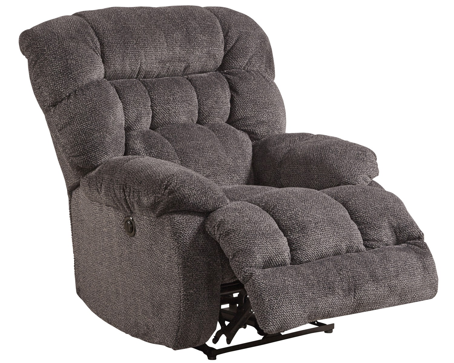 CatNapper Daly Power Lay Flat Recliner - Cobblestone