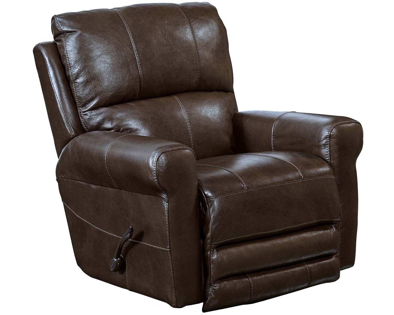 CatNapper Hoffner Leather Recliner Chair - Chocolate