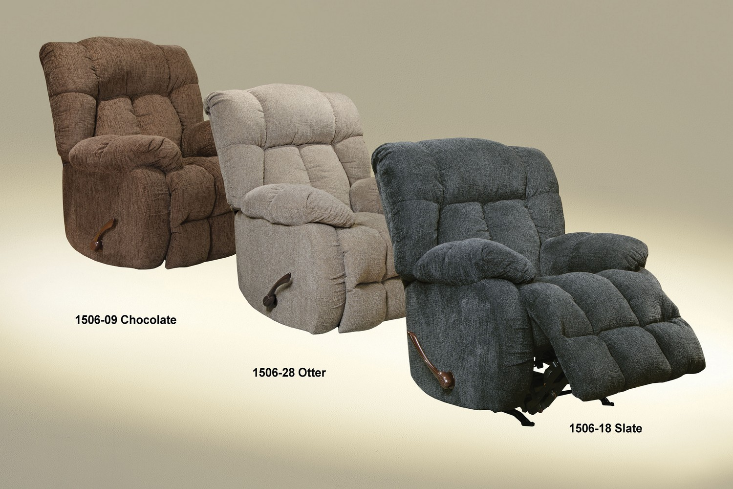 CatNapper Brody Rocker Recliner - Chocolate