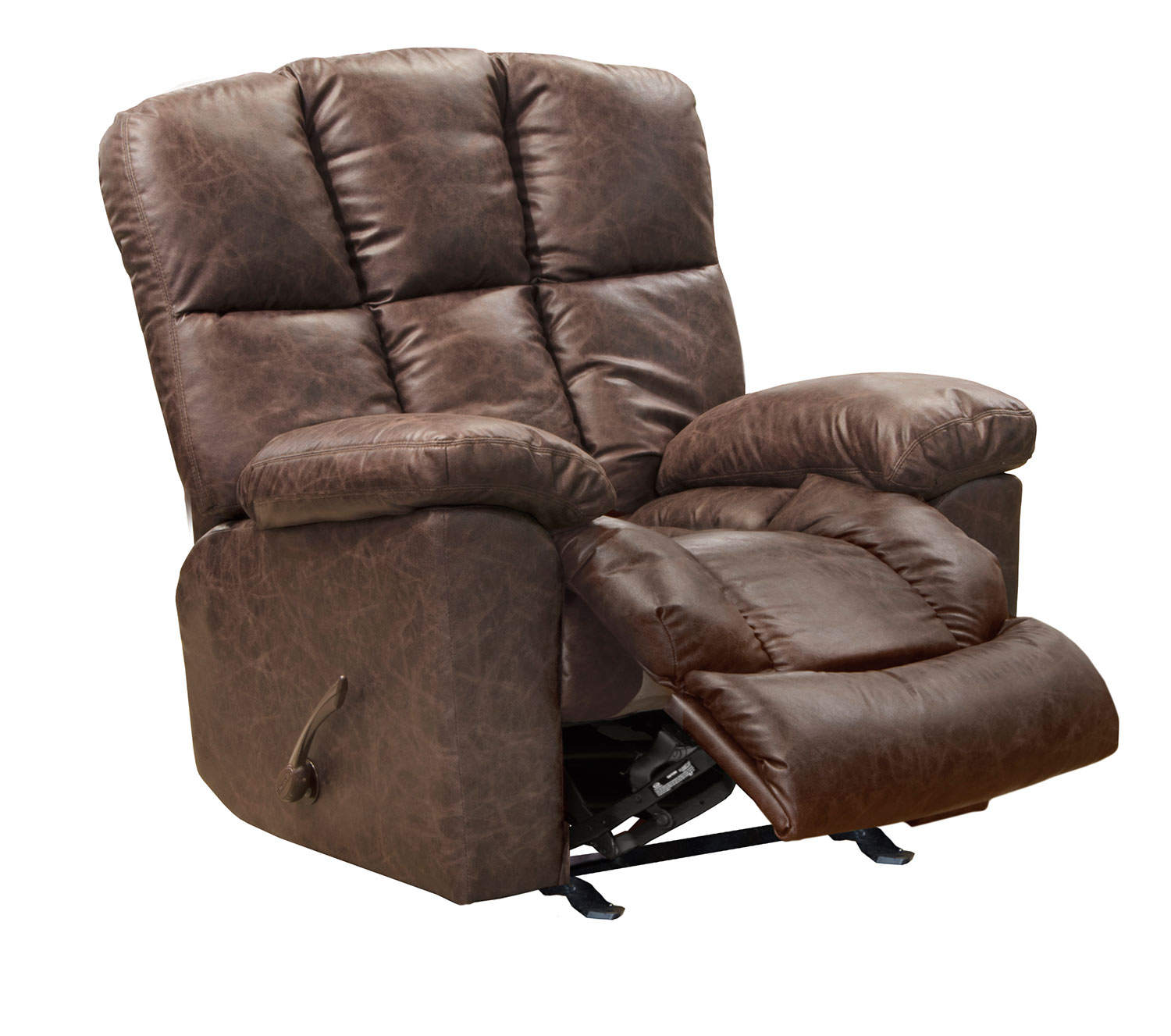 CatNapper Mayfield Glider Recliner Chair - Saddle