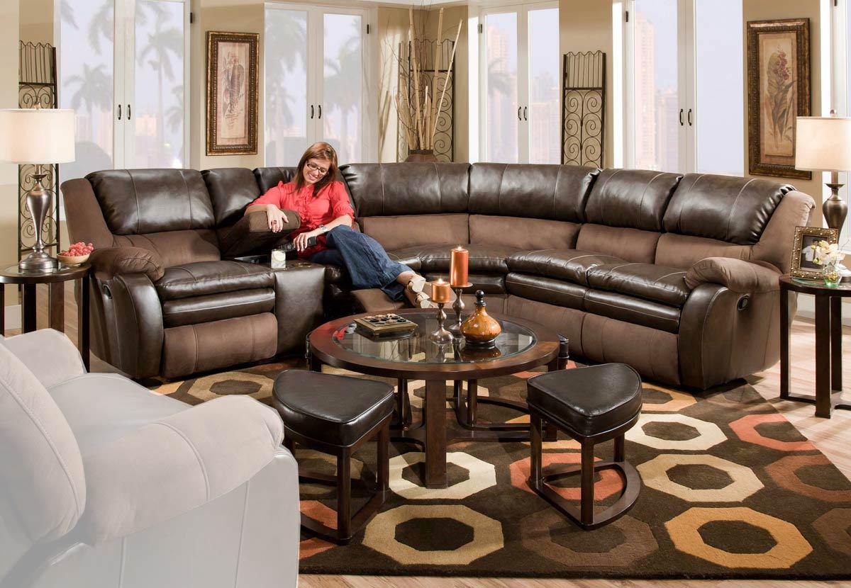Catnapper trevor sectional sofa godiva chestnut cn 479 trevor set at homelement com