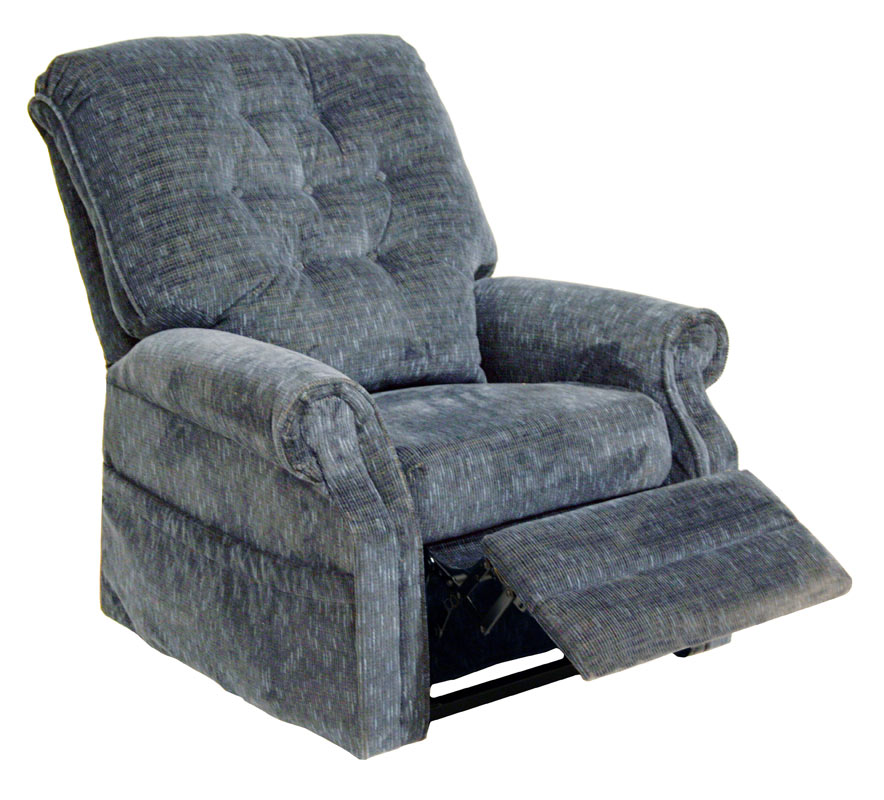 CatNapper Patriot Power Lift Full Lay-Out Recliner - Slate