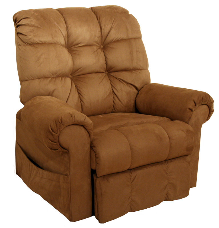 CatNapper Omni Power Lift Full Lay-Out Chaise Recliner - Saddle