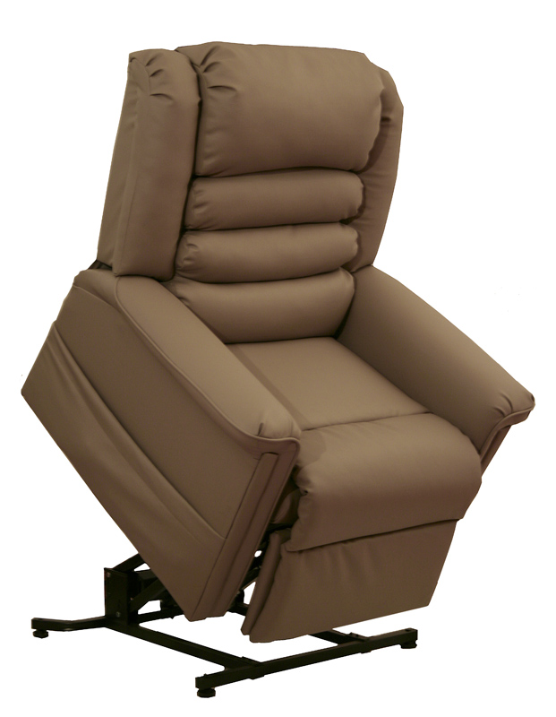 Invincible Power Lift Full Lay-Out Chaise Recliner - Cocoa - Catnapper