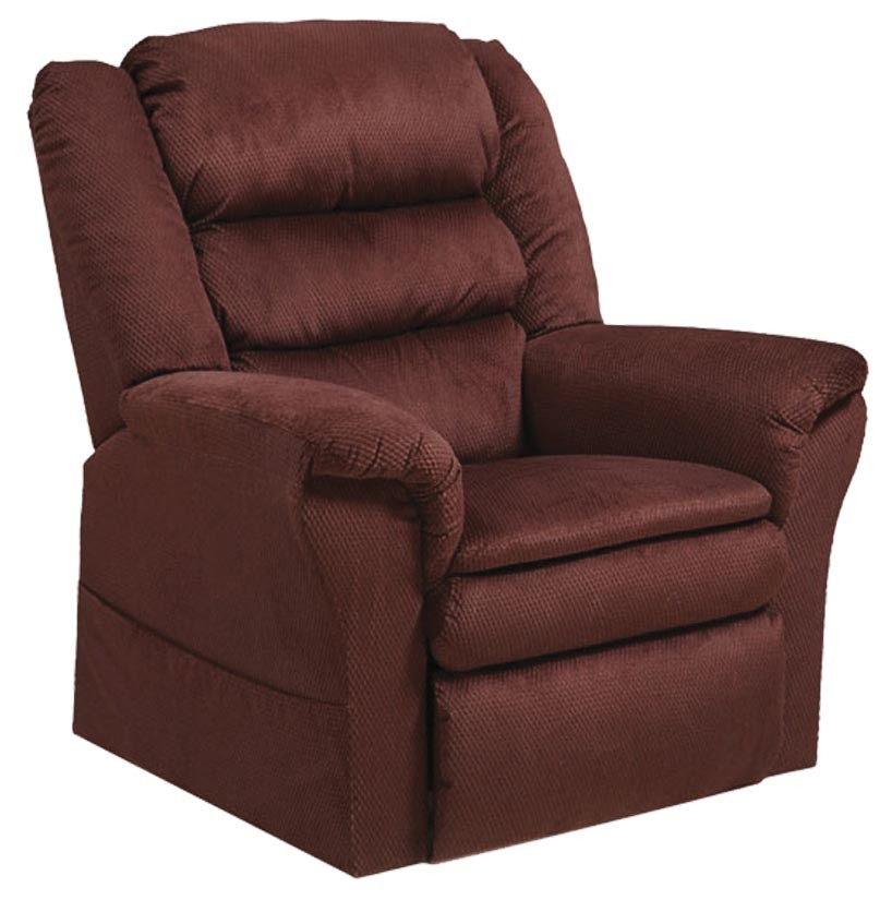 CatNapper Preston Power Lift Recliner with Pillowtop Seat - Berry