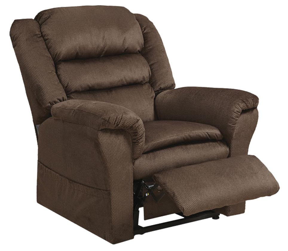 CatNapper Preston Power Lift Recliner with Pillowtop Seat - Coffee