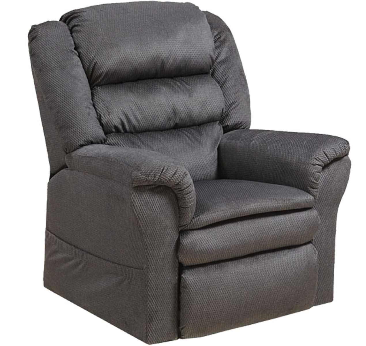 Catnapper Preston Power Lift Recliner With Pillowtop Seat Smoke Cn 4850 Smoke At Homelement Com