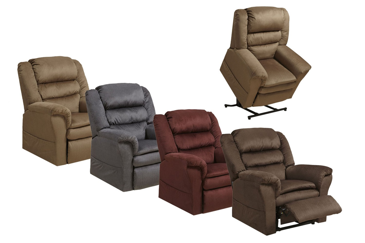 Catnapper preston power lift recliner with pillowtop seat berry cn
