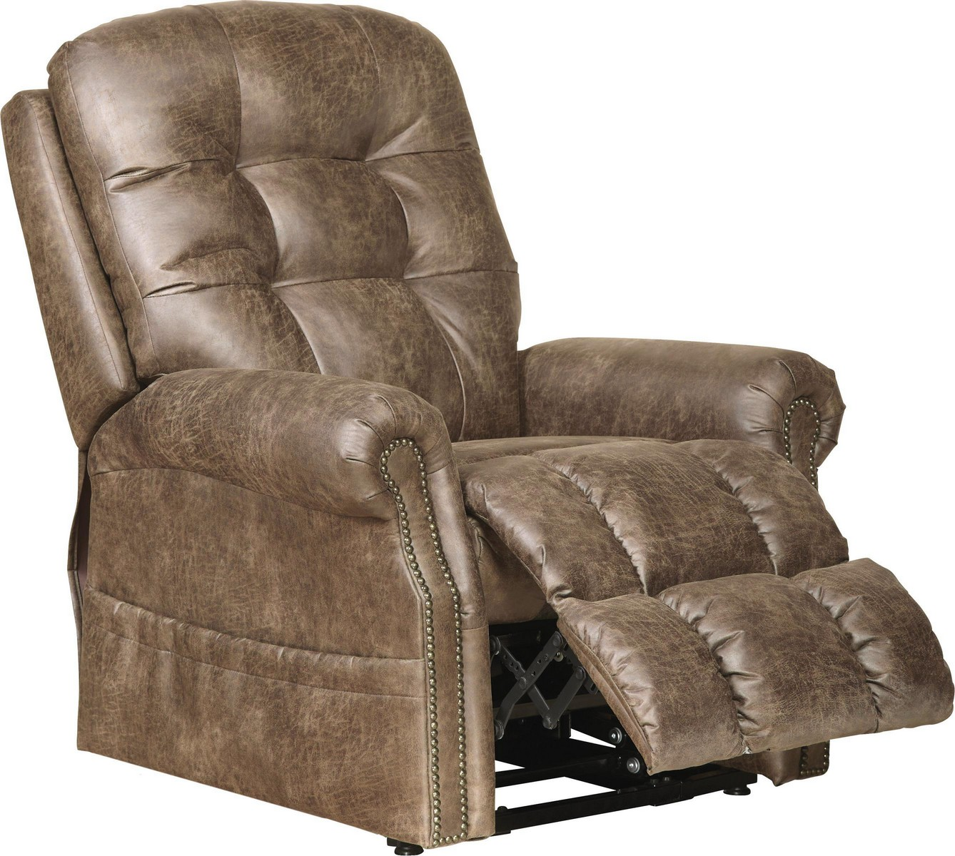Catnapper Ramsey Power Lift Lay Flat Recliner With Heat And Massage Silt Cn 4857 Silt At