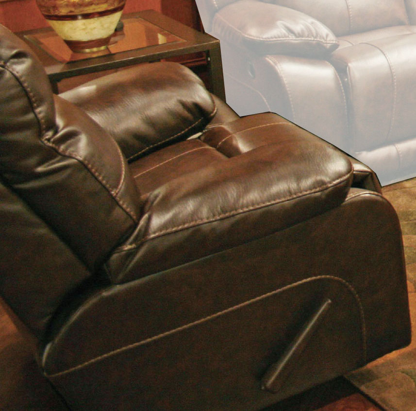 Seville Bonded Leather Glider Recliner - Java - Catnapper