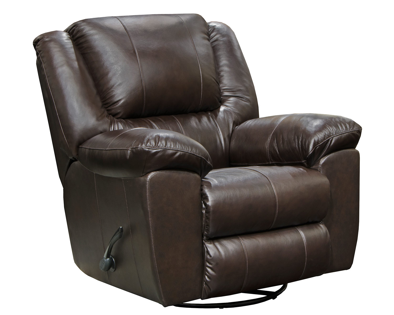 CatNapper Transformer II Leather Swivel Glider Recliner Chair - Chocolate
