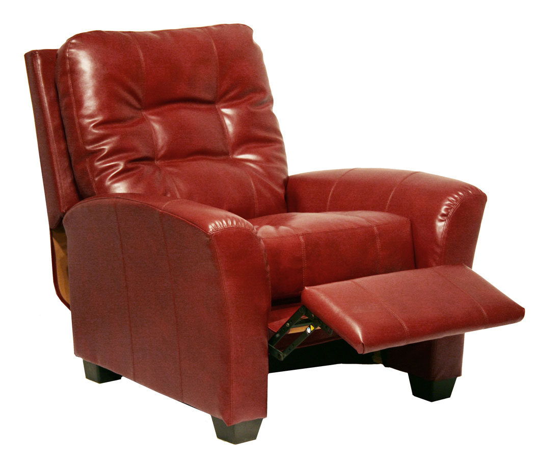 View CatNapper Cranberry Cooper Bonded Leather No Handle Multi Position Reclining Chair Cranber Product Photo