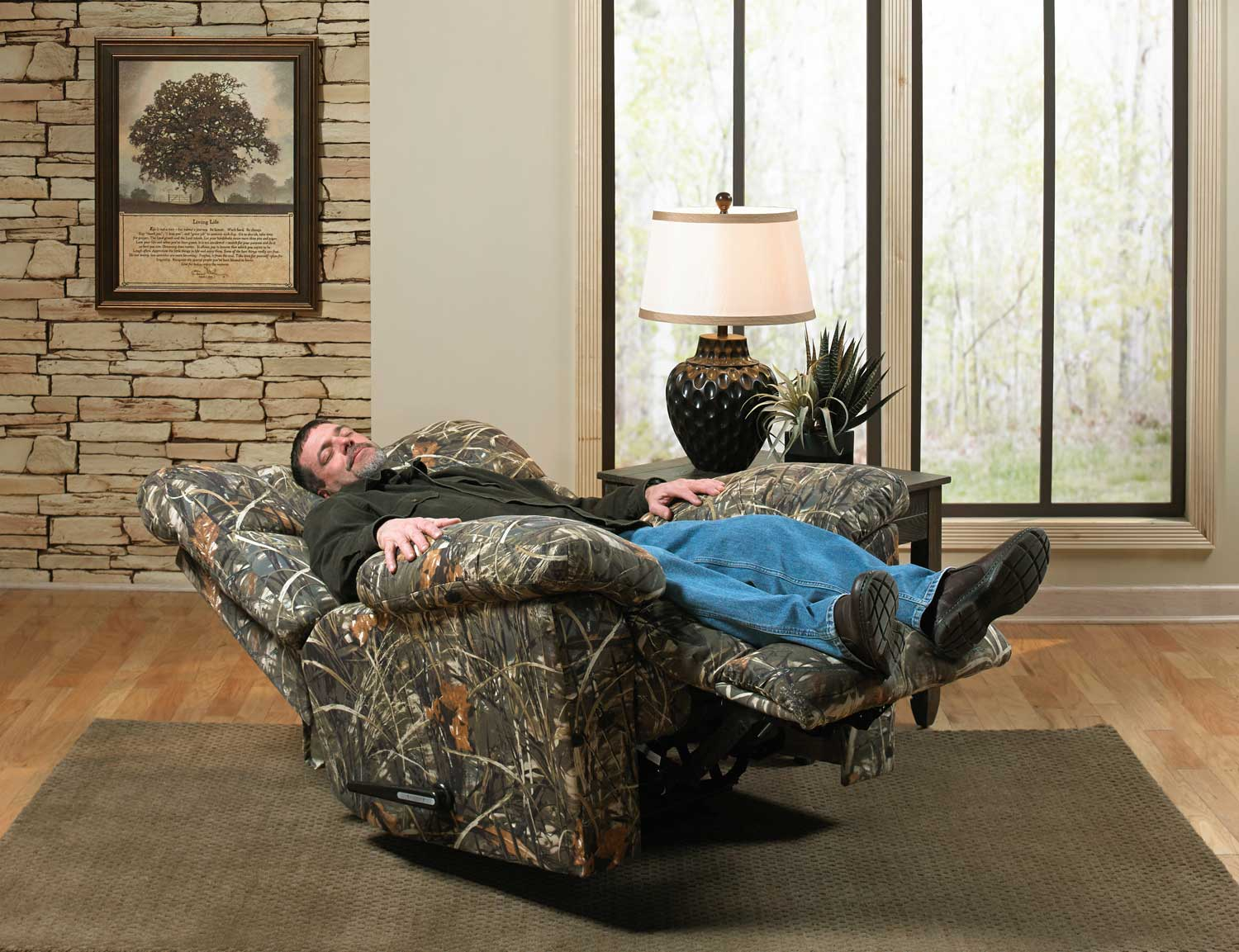 Camouflage Recliner Camouflaged Fabric Kids Recliner With Cup Holder Bt7950kid Camogg