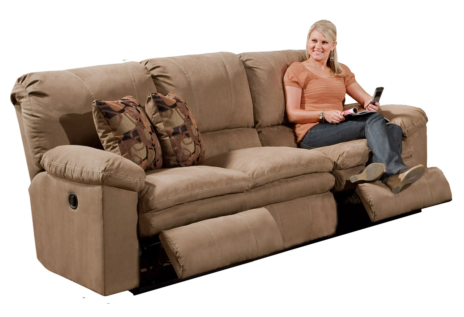 Catnapper Impulse Power Reclining Sofa Cafe Cn 61241 Cafe At