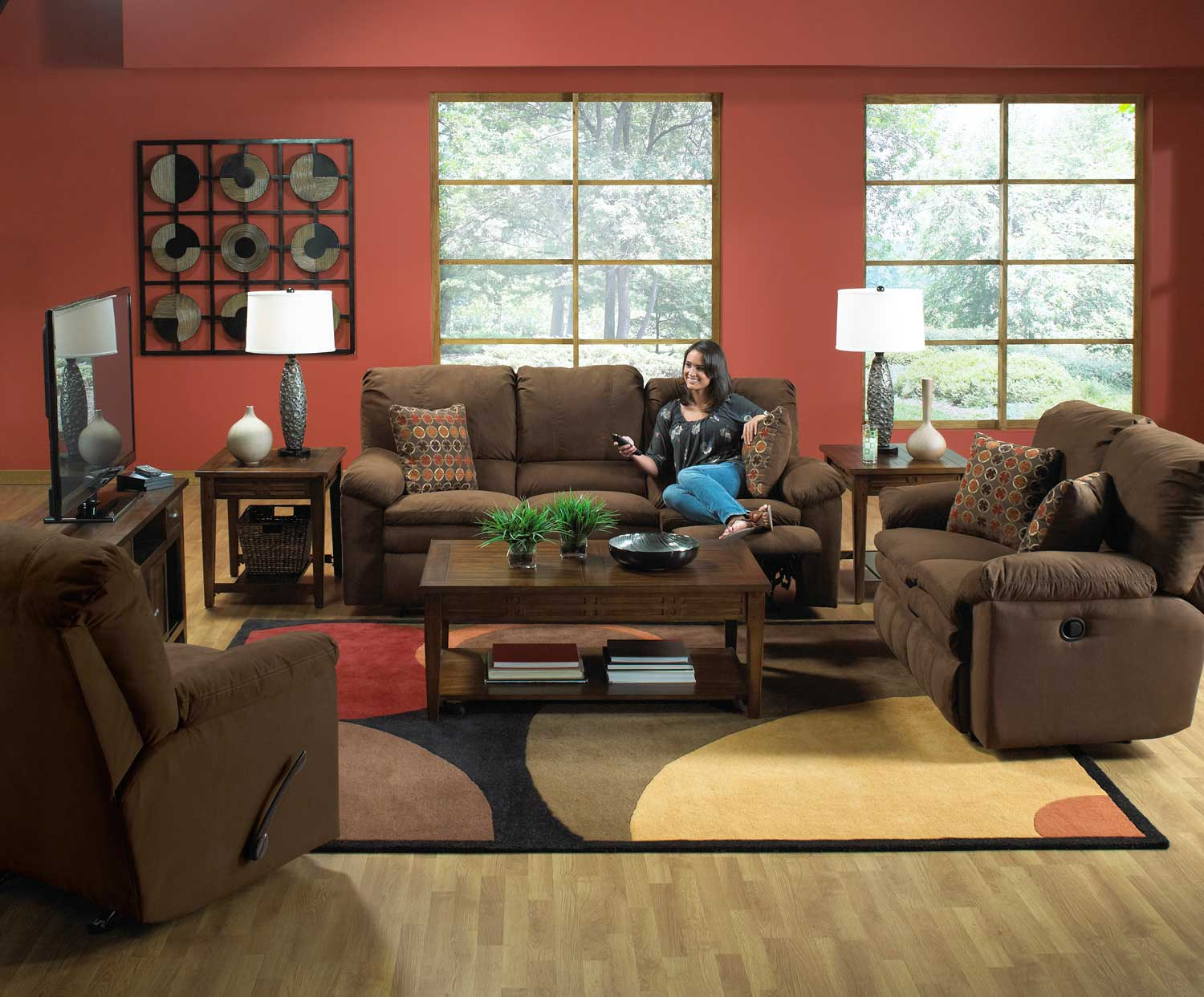 CatNapper Impulse Power Reclining Sofa Set - Godiva