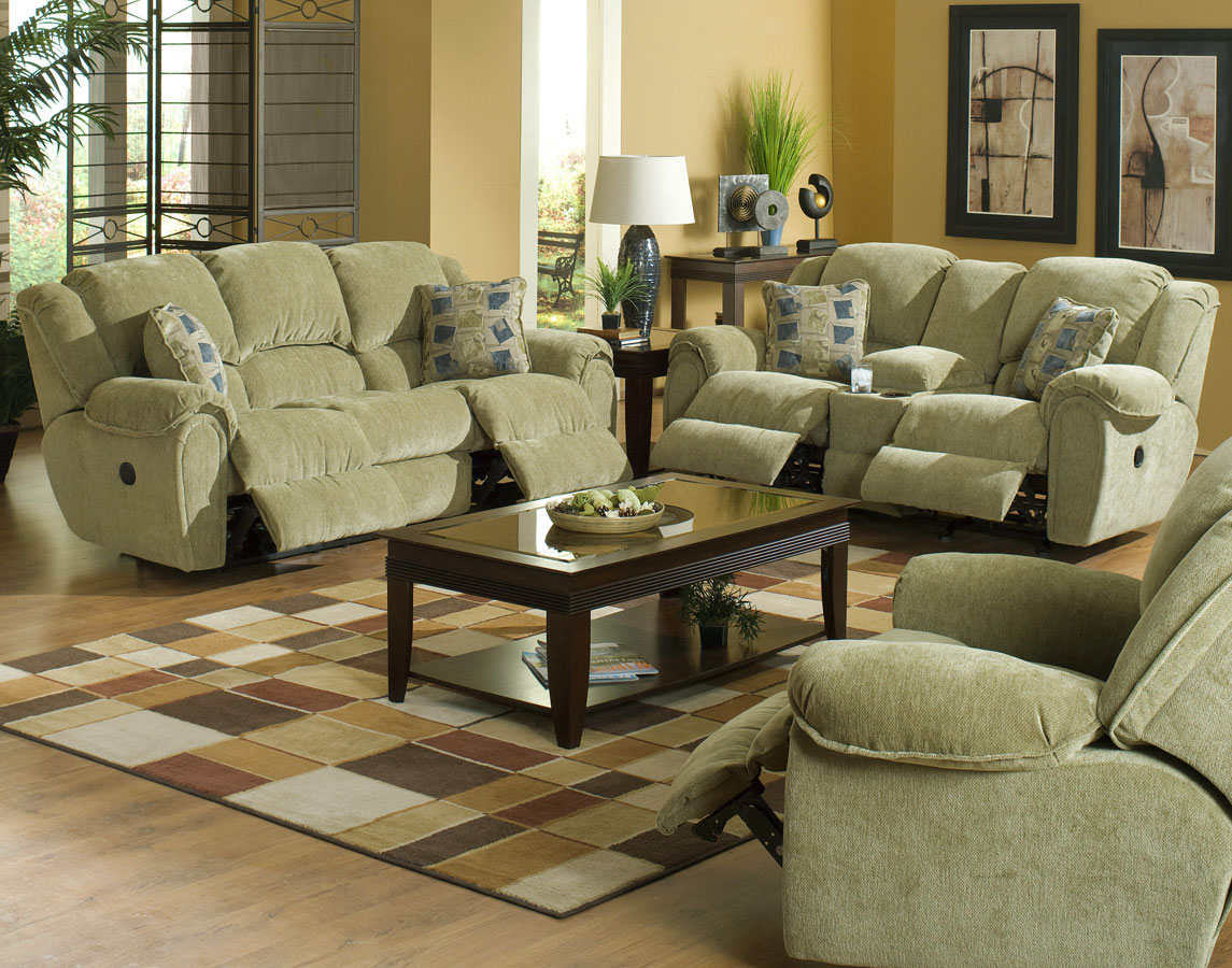 Cheap CatNapper Conrad Sofa Set – Thistle