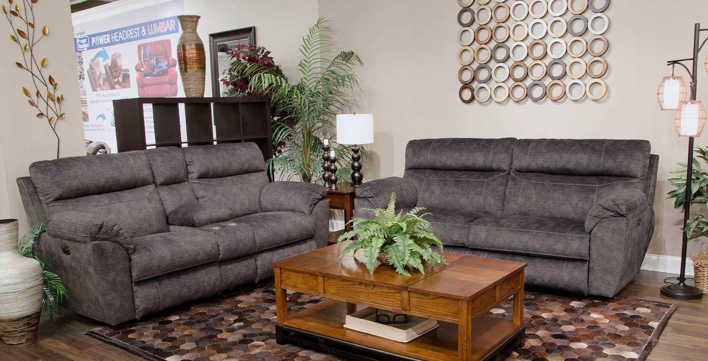 CatNapper Sedona Power Reclining Sofa Set - Smoke