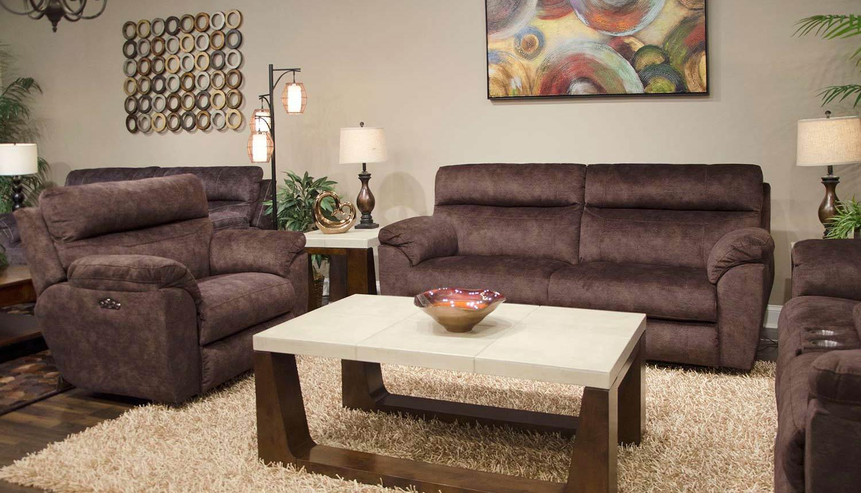 CatNapper Sedona Power Reclining Sofa Set - Mocha