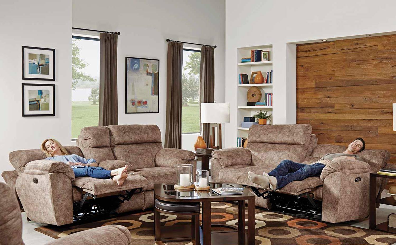 CatNapper Sedona Power Reclining Sofa Set - Mesa