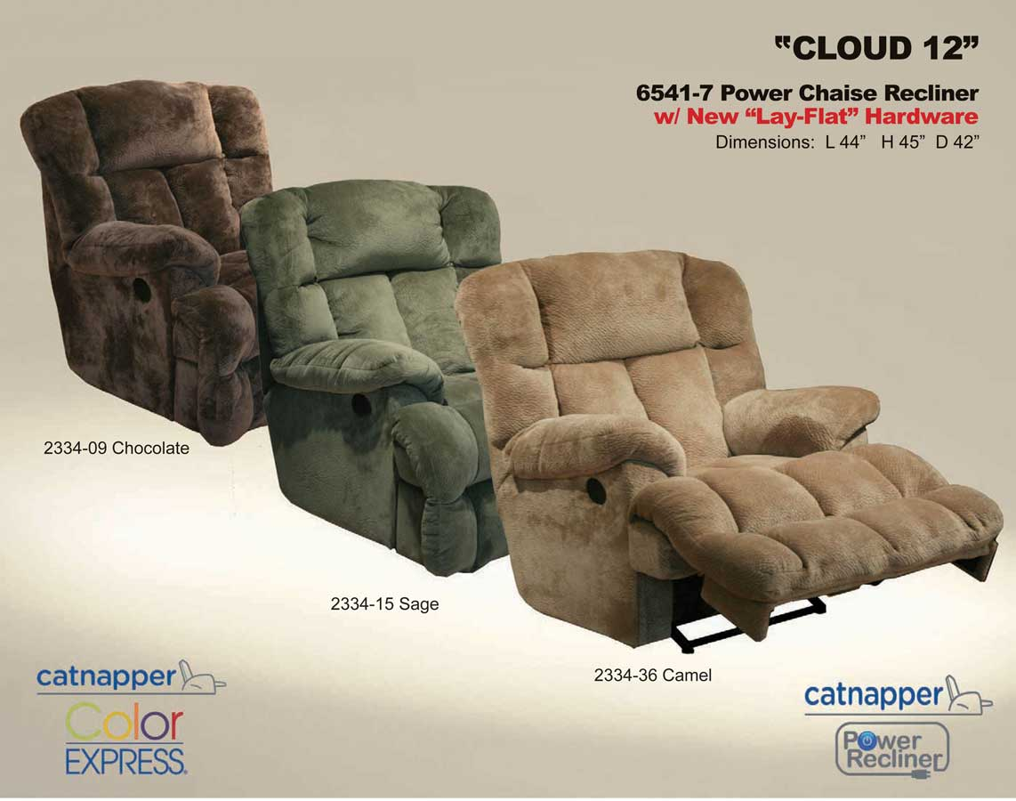 catnapper cloud 12 power chaise recliner sage cn 6541 7