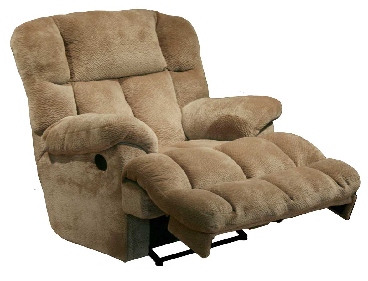 Catnapper cloud 12 chaise rocker recliner camel cn 6541 for Chaise x rocker