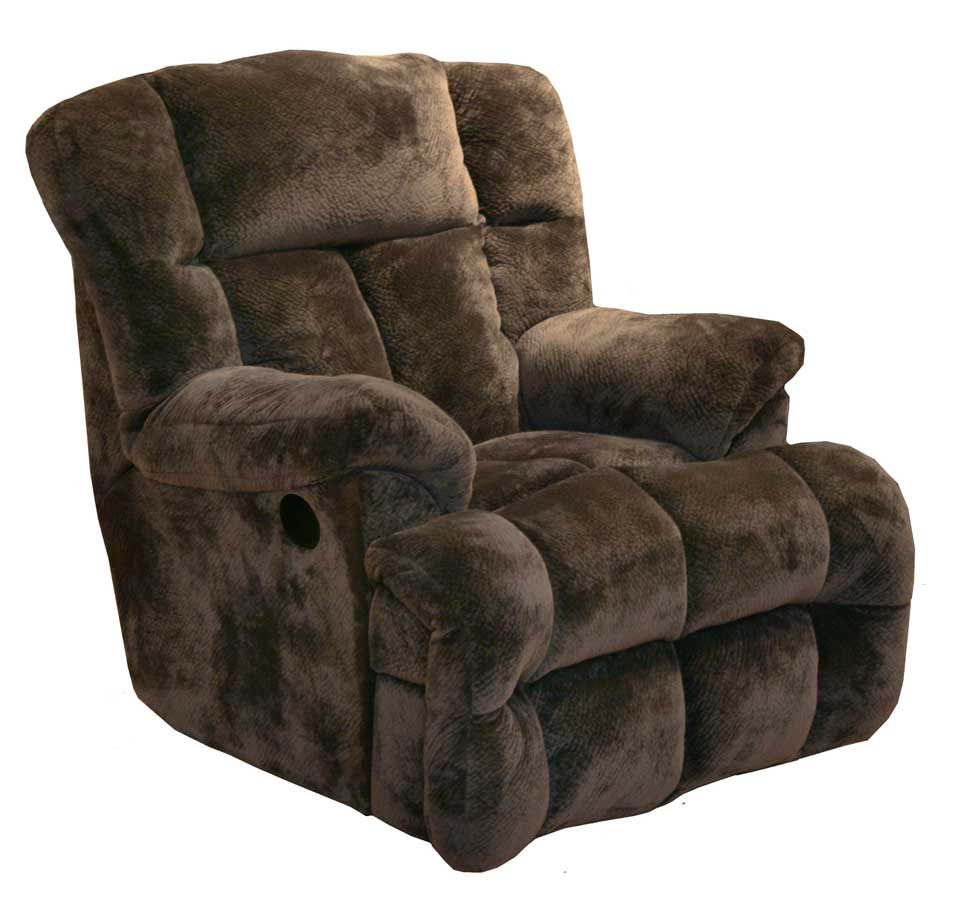 CatNapper Cloud 12 Chaise Rocker Recliner - Chocolate